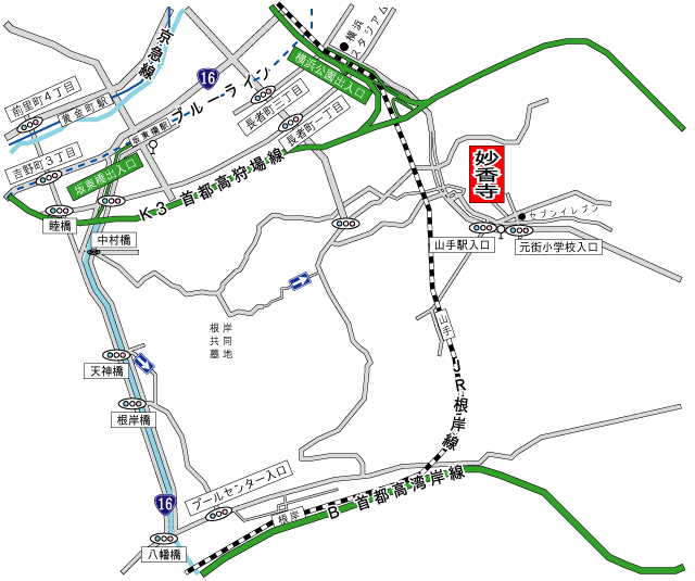 妙香寺アクセス地図
